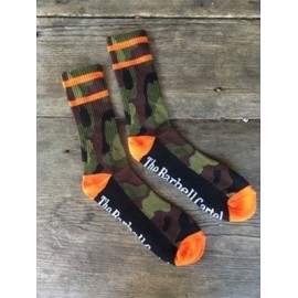 Barbell Cartel Socks Camo Orange