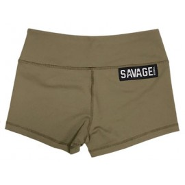 drwod_Savage_barbell shorts mujer_army