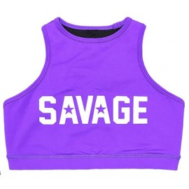 "SAVAGE BARBELL -Top ""Sports Bra - High Neck Purple"""