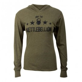 T-shirt Unisex manches longues et capuche JUMPBOX FITNESS modèle JOINT THE KETTLEBELLION 1