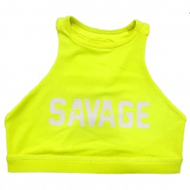 "SAVAGE BARBELL -Top ""Sports Bra - High Neck Glow Stick"""
