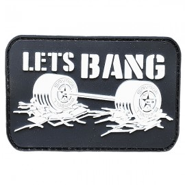 "SAVAGE BARBELL - Parche Velcro PVC ""Let's Bang"""