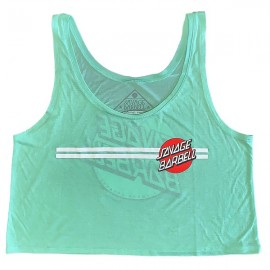 "SAVAGE BARBELL - Crop Top Mujer ""Retro Savage - Summer Mint"""