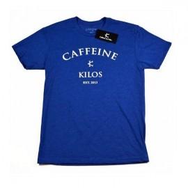 """CAFFEINE & KILOS - Camiseta Hombre """"Arch Logo"""" - Azul"""