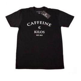"""CAFFEINE & KILOS - Camiseta Hombre """"Arch Logo"""" - Negro"""