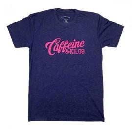 """CAFFEINE & KILOS - Camiseta Hombre """"Script Logo"""" - Storm"""