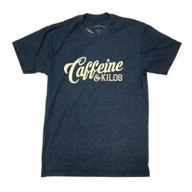 "CAFFEINE & KILOS - Camiseta Hombre ""Script Logo"" - Navy"