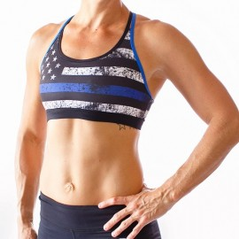 "BORN PRIMITIVE - Sostén ""Warrior Sports Bra - Thin Blue Line"""