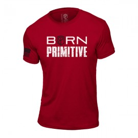 "BORN PRIMITIVE - T-Shirt ""The Patriot Brand Tee"" Red dr wod"