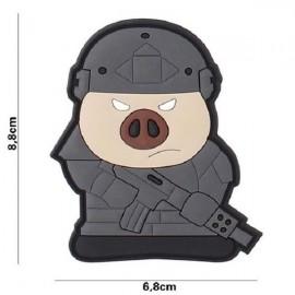 """DR WOD - Parche Velcro PVC """"Tactical Pig"""""""