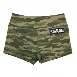 "SAVAGE BARBELL - Short Mujer ""Green Camo"""