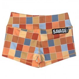 "SAVAGE BARBELL - Short Mujer ""Disco Square"""