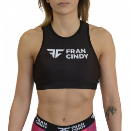 "FRAN CINDY - Top ""Sports Bra High Neck Black"""