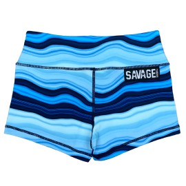 "SAVAGE BARBELL - Short Femme ""Blue Marble"""