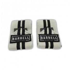 THE BARBELL CARTEL -  ELASTIC WRIST WRAPS BLACK AND GRAY