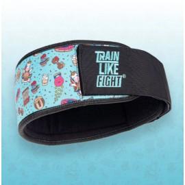 TRAIN LIKE FIGHT -Cinturón de Halterofilia HR – Rainbow Cookie Attitude Soft Blue Edition