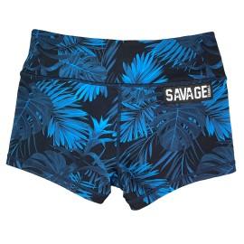 "SAVAGE BARBELL - Women Booty Short ""MAUI NIGHTS"""