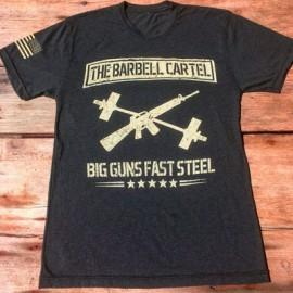 "THE BARBELL CARTEL - T-shirt Homme ""BIG GUNS FAST STEEL"""
